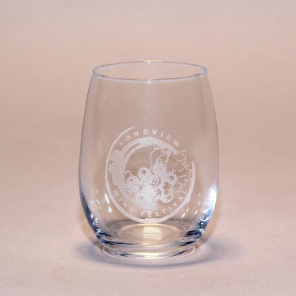 Longview Wine Festival Wine Glass
