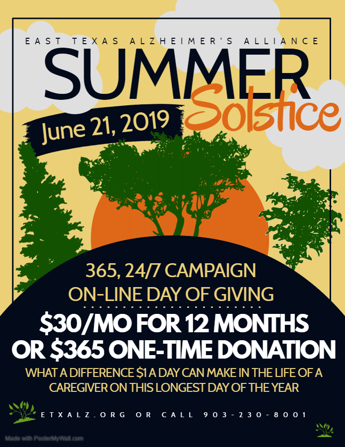June 21 Summer Solstice 24-Hr Day of Giving | East Texas