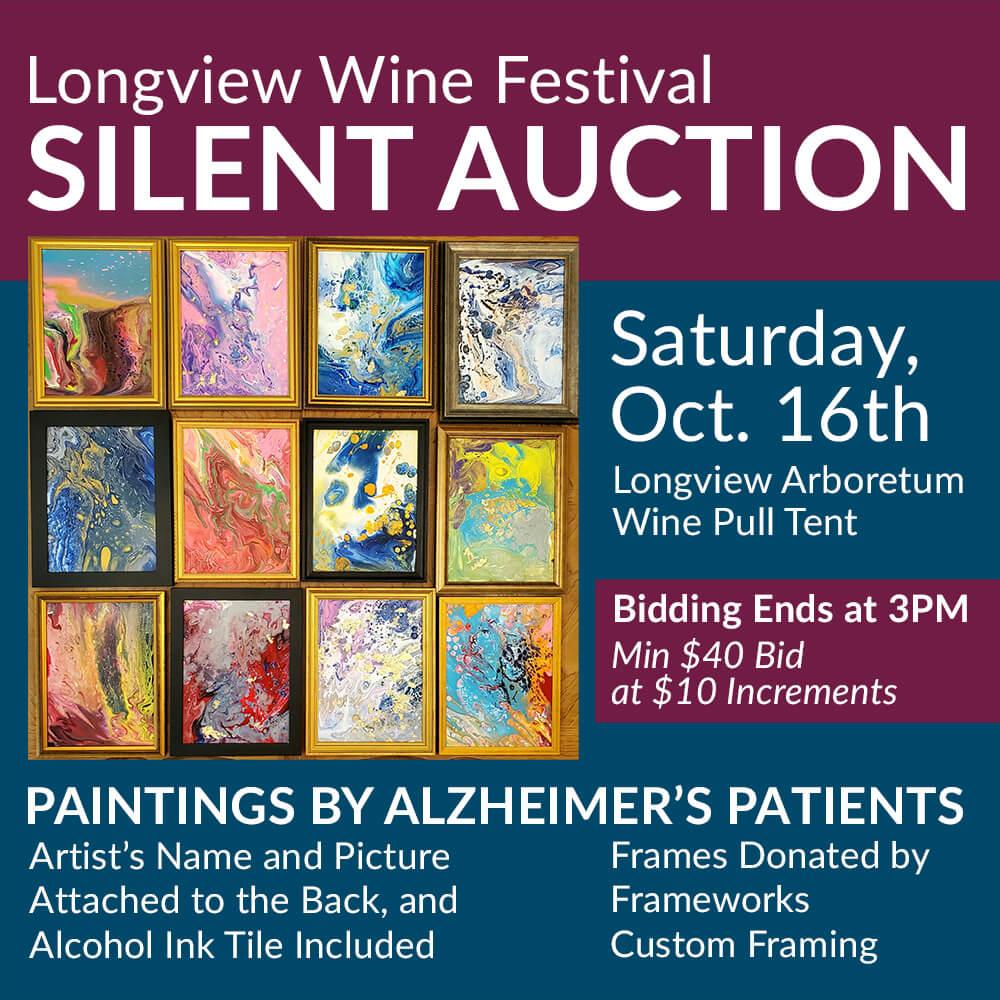 Longview Wine Fest 2021 Art Silent Auction Promo